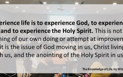 CBC 7 The Knowledge of Life – 1st session: What is life and experience of life?
