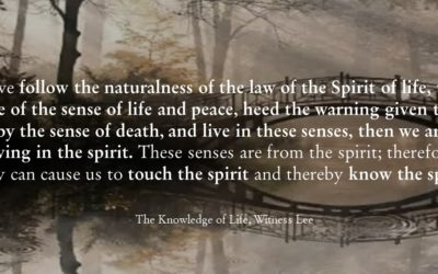 CBC 7 The Knowledge of Life – 3rd session: How to touch and know the spirit?